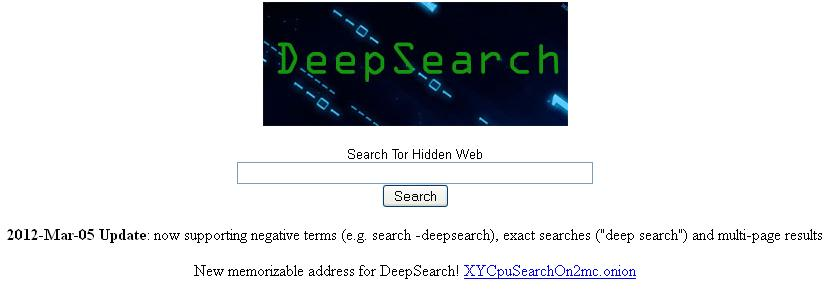 Deep Search - Tor Search Engine